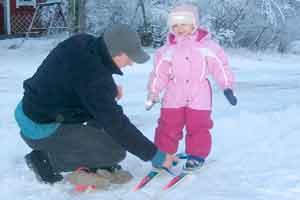 I bambini sulla neve