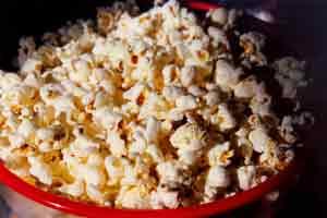 popcorn e cioccolata